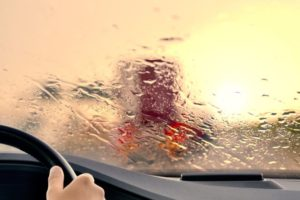 driving in a bad rainstorm