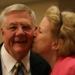 Sheryl kissing Bert